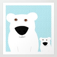 Winter - Polar Bear 2 Art Print