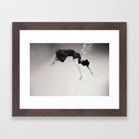 A Girl (Underwater) Framed Art Print