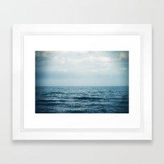 sink or swim. Framed Art Print
