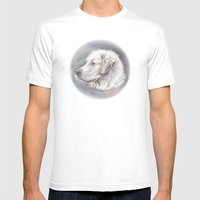 Golden Retriever Dog Dra… Mens Fitted Tee White SMALL