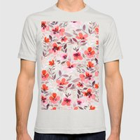 Espirit Blush Mens Fitted Tee Silver SMALL