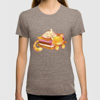 Ice sandwich cat Womens Fitted Tee Tri-Coffee SMALL