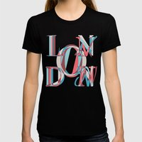 London Womens Fitted Tee Black SMALL