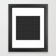 Uranus Noir Pattern Framed Art Print