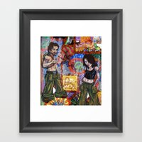 Rock Tour Respite Framed Art Print