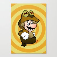 All Glory to the Mario Bros! Canvas Print