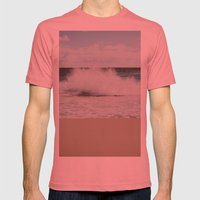 Wave Mens Fitted Tee Pomegranate SMALL