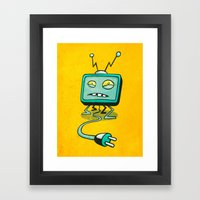 Edna TV Framed Art Print
