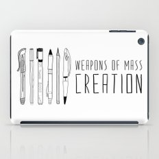 Weapons Of Mass Creation (on grey) iPad Case