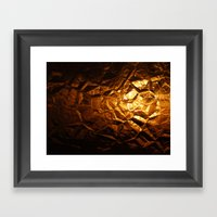 Golden Wrapper Framed Art Print