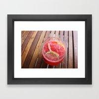 sangria series (#1 - raspberry citrus sauvignon blanc) Framed Art Print