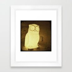 owl-y Framed Art Print