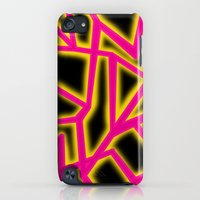 iPhone Cases featuring Pink Lightning Glow by The Wellington Boot