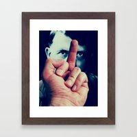 AntiHitler Framed Art Print