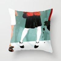 Three Marlenas Throw Pillow