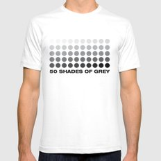 50 shades of grey White SMALL Mens Fitted Tee