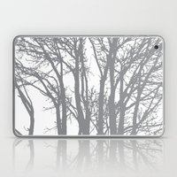 Slate Grey Trees Laptop & iPad Skin