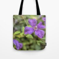 Tote Bag featuring Clematis by LebensART Photograph…