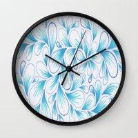Cerulean Spray  Wall Clock