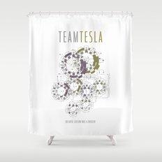 Team Tesla Shower Curtain