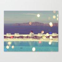 Santorini Sun Canvas Print