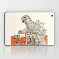 Godzilla vs. the Brooklyn Bridge Laptop & iPad Skin