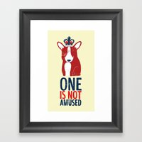 One Is Not Amused Framed Art Print