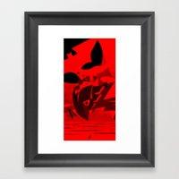 Knight Over Gotham Framed Art Print