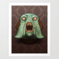 Swamp Alien Art Print