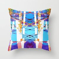 Colored Window Throw Pillow