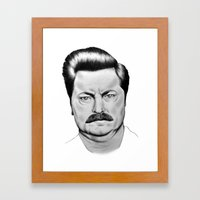 Ron Swanson Framed Art Print