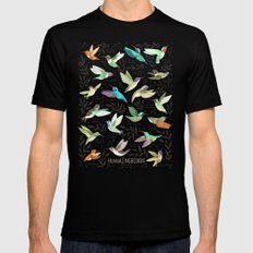 Hummingbirds of North America Field Guide  Mens Fitted Tee Black SMALL