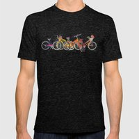 Bikes Mens Fitted Tee Tri-Black SMALL