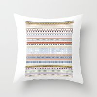 Stamp Me Throw Pillow