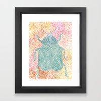 The Beetle Framed Art Print