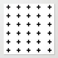 +++ (black) Canvas Print