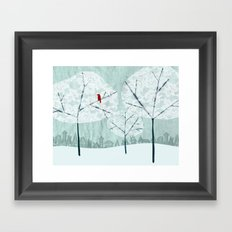 Lace Trees Framed Art Print