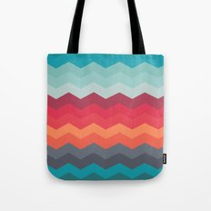 Color strips pattern Tote Bag