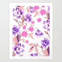 Garden Journal Purple Art Print