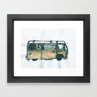 The Bus Framed Art Print