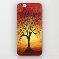 Fiery sky iPhone & iPod Skin
