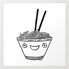 Happy Noodles Art Print