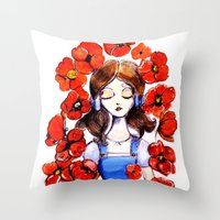 Poppies Will Put Her To … Throw Pillow