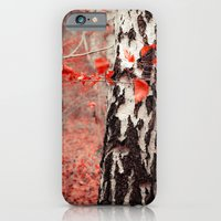 iPhone & iPod Case featuring red forest by hannes cmarits (hannes61)
