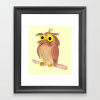 the nice owl Framed Art Print
