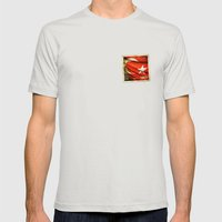 Grunge Sticker Of Turkey… Mens Fitted Tee Silver SMALL