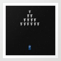 Game Over, Time Lord Art Print