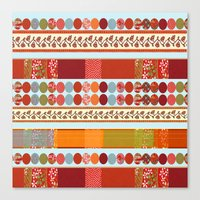 Red Pattern With Dots Canvas Print