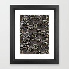 Social Sloths Framed Art Print