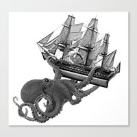 Release the Kraken Canvas Print